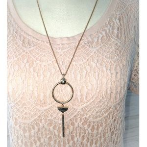 Lucky Necklace • Gold Statement Necklace NWT